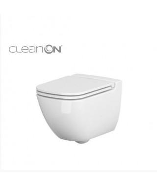 Miska wc podwieszana CERSANIT CASPIA CleanOn + deska wolnoopadająca K701-103