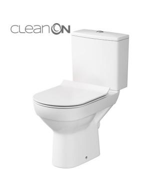 WC kompakt CERSANIT CITY 3/5L poziomy z deską wolnoopadającą
