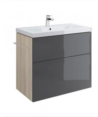 Szafka CERSANIT SMART pod umywalkę COMO 80. szary front