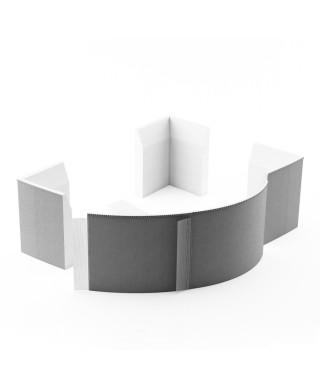 SCHEDPOL nośnik styropianowy półokrągły 240x63 cm