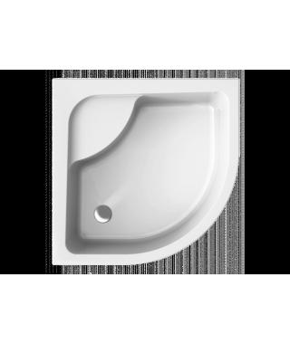 Brodzik półokrągły POLIMAT 80 x 80 x 24 cm z siedziskiem i ze stelażem PAKO