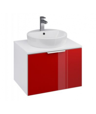 Szafka CERSANIT STILLO 60 czerwony front pod umywalki nablatowe INTEO/CASPIA RING