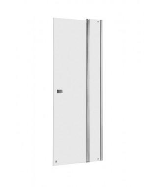 Drzwi prysznicowe z polem stałym ROCA CAPITAL 90x195cm z powłoką MaxiClean, profile aluminiowe chromowane