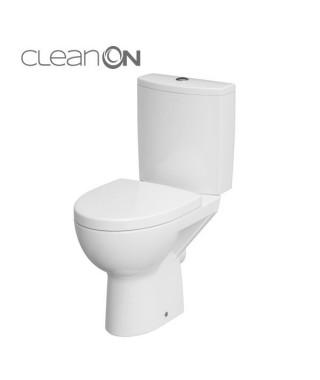 WC kompakt CERSANIT PARVA NEW odpływ poziomy CLEAN ON + deska wolnoopadająca