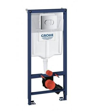 Stelaż WC Rapid SL GROHE z przyciskiem Arena Cosmopolitan i Grohe Fresh 5w1
