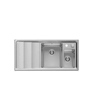 Zlewozmywak stalowy PYRAMIS STUDIO (100x50) 1 1/2B 1D R