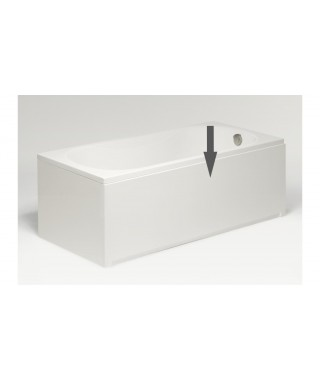 Obudowa czołowa biała EXCELLENT 140x56cm do wanny prostokątnej