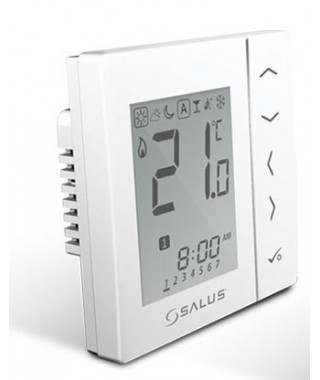 VS10WRF biały bezprzewodowy, cyfrowy regulator temperatury sieci ZigBee, 230V SALUS