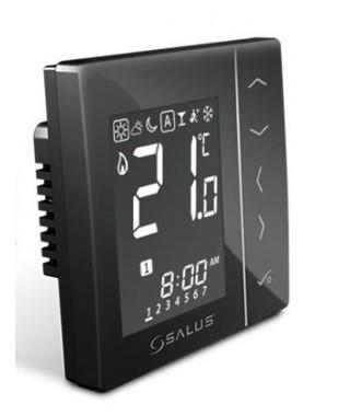 VS10BRF czarny bezprzewodowy, cyfrowy regulator temperatury sieci ZigBee, 230V SALUS