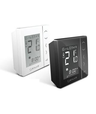 VS20BRF czarny bezprzewodowy. cyfrowy regulator temperatury sieci ZigBee. baterie 4xAAA SALUS