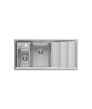 Zlewozmywak stalowy PYRAMIS STUDIO (100x50) 1 1/2B 1D L