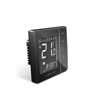 VS30B przewodowy tygodniowy cyfrowy regulator temperatury. 230V SALUS czarny