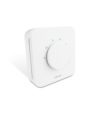 HTR24V(20) dobowy przewodowy, elektroniczny regulator temperatury, 24V SALUS biały