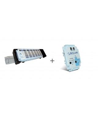KL06 listwa 6 stref + PL06 moduł sterowania pompą SALUS