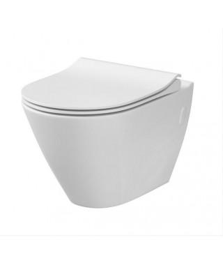 Cersanit zestaw miska wc podwieszana CERSANIT CITY OVAL NEW CleanOn + deska wolnoopadająca Slim K701-104
