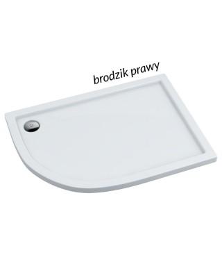Brodzik asymetryczny 100x80x3/5 cm SCHEDPOL CORRINA