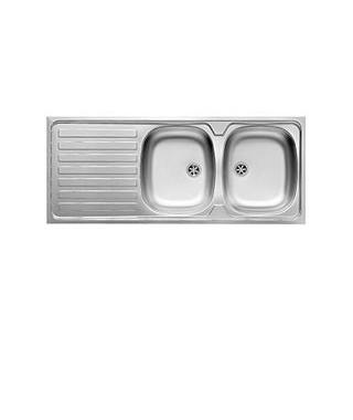 Zlewozmywak stalowy PYRAMIS INTL 120x50 2B 1D gładki
