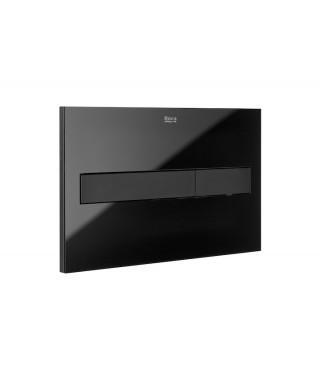 Przycisk PL7 - ROCA 2-funkcyjny czarny mat / szkło połysk