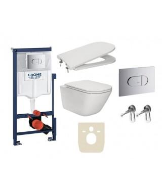Zestaw podtynkowy DUPLO + miska WC podwieszana GAP Rimless