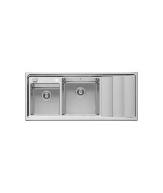 Zlewozmywak stalowy PYRAMIS STUDIO (116x50) 2B 1D L