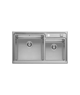 Zlewozmywak stalowy PYRAMIS STUDIO (86x50) 2B