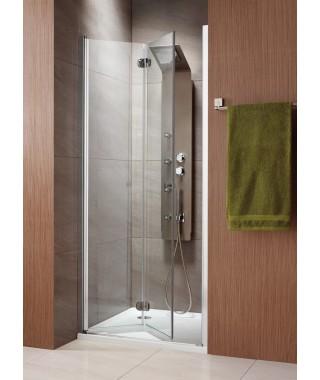 Drzwi wnękowe bifold Eos DWB RADAWAY 70 cm lewe, szkło przejrzyste