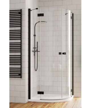 Drzwi prysznicowe New Black PDD RADAWAY 80cm lewe, szkło przejrzyste