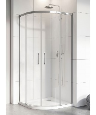 Kabina półokrągła Idea PDD RADAWAY 80cm szkło przejrzyste