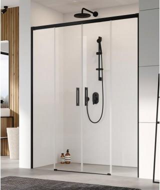 Drzwi prysznicowe Idea Black DWD RADAWAY 140cm lewa ,szkło przejrzyste