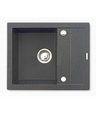 Zlewozmywak granitowy metal grafit AS PYRAMIS STUDIO 59x48 1B 1D