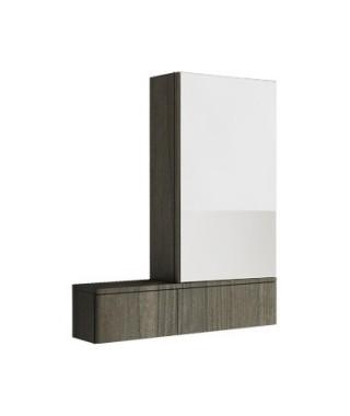 Szafka wisząca KOŁO NOVA PRO 70.8 x 85 x 17.6 cm. z lustrem. prawa. szary jesion