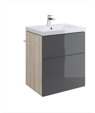 Szafka CERSANIT SMART pod umywalkę COMO 60. szary front
