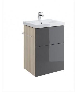 Szafka CERSANIT SMART pod umywalkę COMO 50. szary front