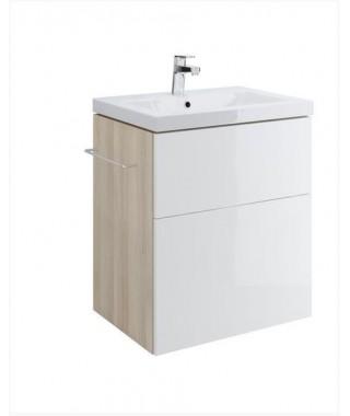 Szafka CERSANIT SMART pod umywalkę COMO 60. biały front