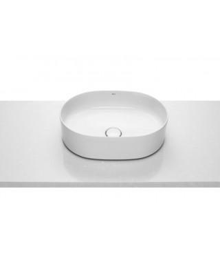 Roca Inspira umywalka nablatowa Round FINECERAMIC® 50x37cm z powłoką maxi clean A32752000M