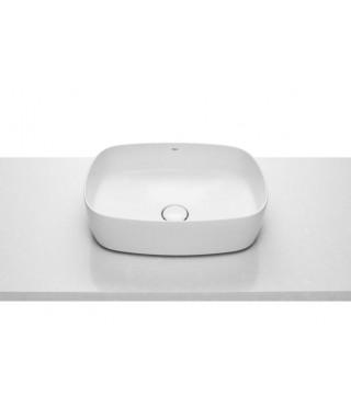 Roca Inspira umywalka nablatowa Soft FINECERAMIC® 50x37cm z powłoką maxi clean A32750000M