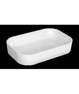 Umywalka nablatowa ceramiczna BRAVAT BVTCR-UN/SS-60X40