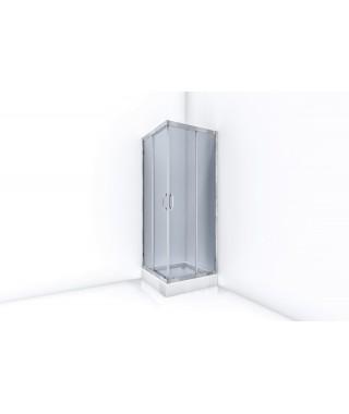 Kabina prysznicowa kwadratowa przesuwna BRAVAT SL 80x80x195cm szkło grafitowe ID-SQST 80 BB