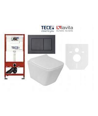 Zestaw Stelaż TECE Base 9400007 + Lavita Lago + przycisk TECENow czarny mat 9240407 + mata