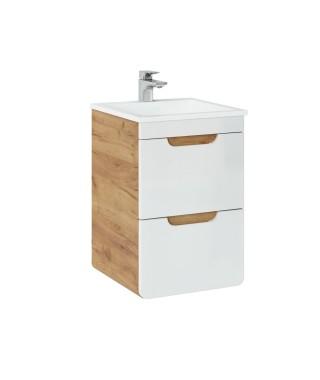 COMAD ARUBA 823 Szafka pod umywalkę 40x40cm - Dąb Craft złoty / Biały Połysk