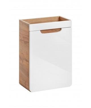 COMAD ARUBA 826 Szafka pod umywalkę 40x22cm - Dąb Craft złoty / Biały Połysk