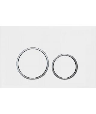 DOPPIO 20 Przycisk spłukujący WC chrom mat/chrom do GEBERIT UP320 415.161.120 ma