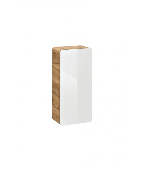 ARUBA 830 Szafka wisząca 35 1D - Dąb Craft Złoty / Biały Połysk