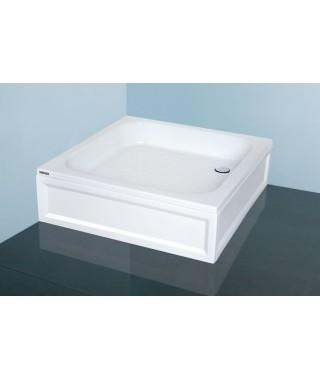 SANPLAST CLASSIC brodzik kwadratowy B/CL 75x75x15cm +STB biały 615-010-0020-01-000
