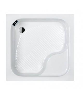 SANPLAST CLASSIC brodzik kwadratowy z siedziskiem Bzs/CL 90x90x28+STB biały 615-010-0250-01-000