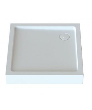SANPLAST FREE LINE brodzik kwadratowy Bza/FREE 80x80x5cm. biały 615-040-1120-01-000