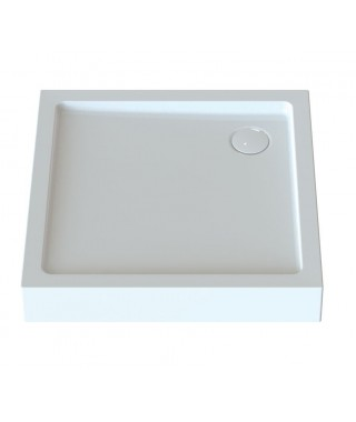 SANPLAST FREE LINE brodzik kwadratowy Bza/FREE 100x100x5cm biały 615-040-1140-01-000