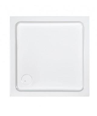 SANPLAST FREE LINE brodzik kwadratowy 80x80x5+STB biały 615-040-1020-01-000