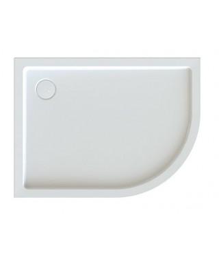 SANPLAST FREE LINE brodzik półokrągły asymetryczny BP-L/FREE 80x100x5+STB biały 615-040-1760-01-000