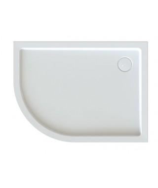 SANPLAST FREE LINE brodzik półokrągły asymetryczny BP-P/FREE 80x100x5+STB biały 615-040-1770-01-000